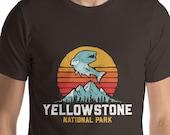 Yellowstone National Park Vintage Fishing Short-Sleeve Unisex T-Shirt