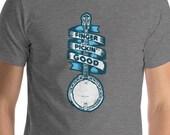 Finger Picking Good - Vintage Banjo Bluegrass Music Sketch Short-Sleeve Unisex T-Shirt