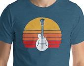 Vintage F Style Bandolin & Sun Graphic Design Short-Sleeve Unisex T-Shirt