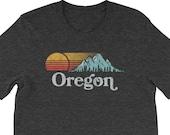 Retro Vibe Vintage Orego Tee - Mountain & Sun Throwback Short-Sleeve Unisex T-Shirt