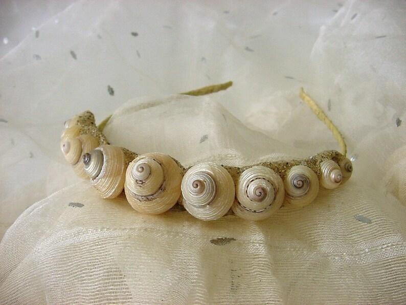 Festival Seashell Mermaid Crown Baby Abalone Tiara for Beach Wedding Prom