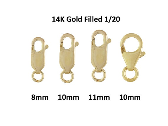 25 pcs 14K Gold filled 9mm Fish Lock Lobster Claw Clasps Wholesale Lot Quality