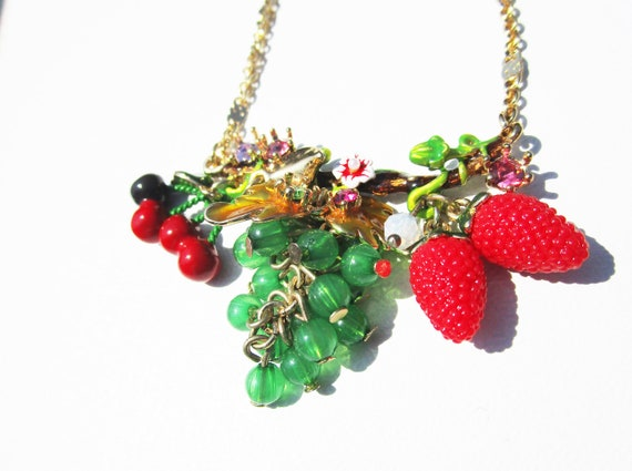 Les Néréides Fruit Salad Glass Bead Necklace