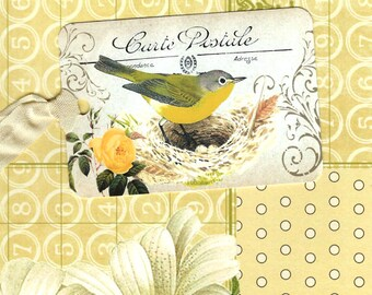 Bird Tags, Yellow Bird Gift Tags, Bird Lover Tag