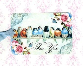 Gift Tags, Bluebirds, Bird Tags, For You, Tags, Bird Lover, Party Favors