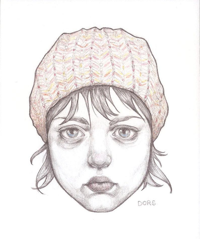 Original Drawing  Jo  By Kristyn Dors image 0