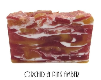Shea Butter and Glycerin Soap-Orchid & Pink Amber