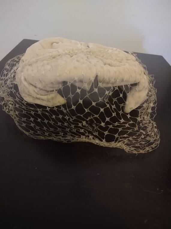 Forties Velvet Half Hat