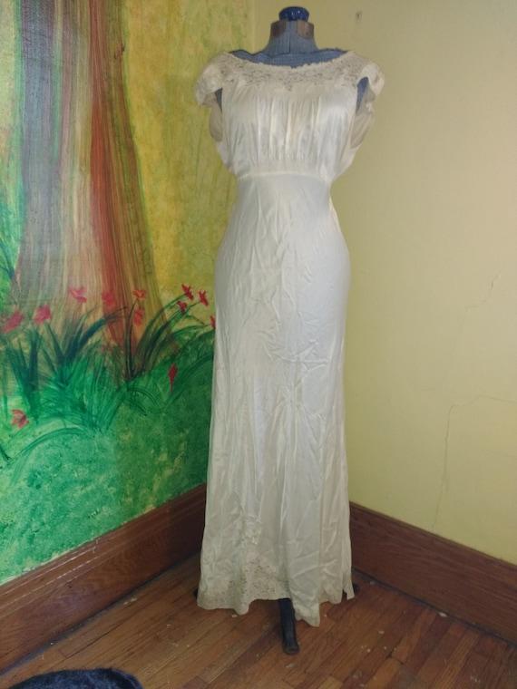 Thirties Nightgown, Maxie Dress, Wedding Dress