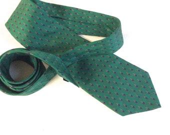 Vintage Silk Necktie - Green Jsaco Silk Necktie