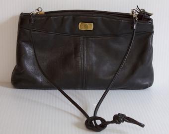 Vintage Etienne Aigner Black Leather Purse, Vintage Handbag