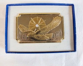 Vintage 1983 American Eagle Diamond Belt Buckle Unused