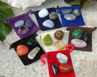 Chakra Healing Balancing Tumbled Stones Crystal using Reiki and Feng Shui, 21 Chakra Stones, Chakra Gemstones, Chakra Balance, Crystal Reiki