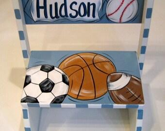 Sports Balls Flip Step Stool