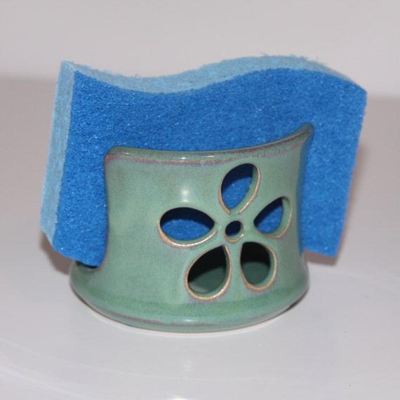 Sea Foam Green Flower Ceramic Sponge Holder Made To Order Etsy