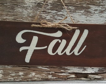 Fall Sign | Wood Sign | Stained Wood Sign | 4 x 12 Wood Sign | Rustic Sign | Home Decor | Fall Season Wood Sign | Fall Home Decor |