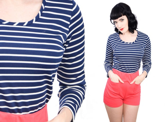 Striped Sailor Nautical Blouse