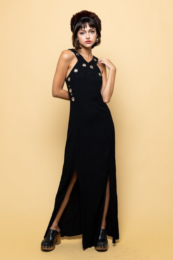 Black Slinky Maxi Dress