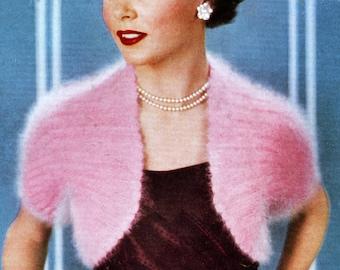 Knitted Bolero Shrug pattern Vintage PDF 1953