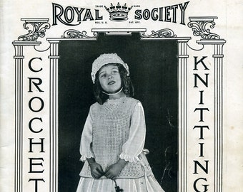 Royal Society 1919 Crochet and Knitting No. 13 antique vintage instructions