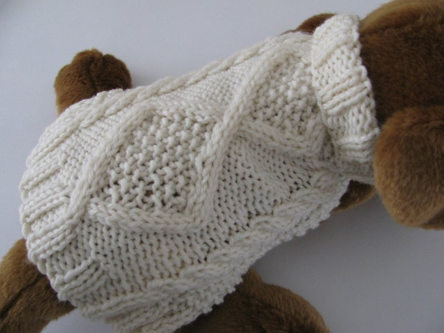 Imágenes de Cable Knit Dog Sweater Pattern Free