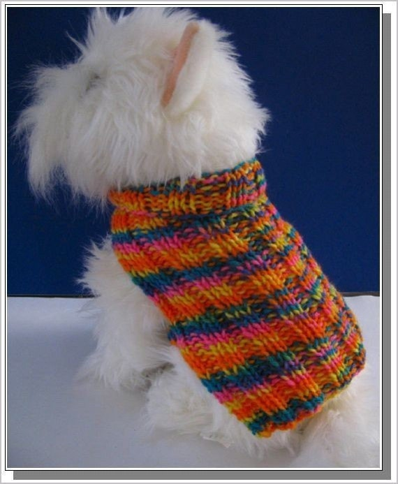 Dog Sweater Knitting Pattern Very Easy To Knit Basic Ribbed Etsy