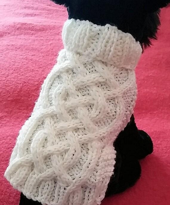 Knit Dog Sweater knitting pattern Celtic Braid design | Etsy
