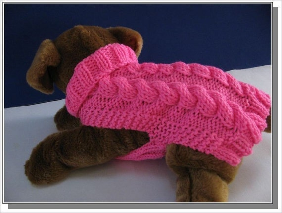 Dog Sweater Knitting Pattern Celtic Doggie Smart Cables Etsy