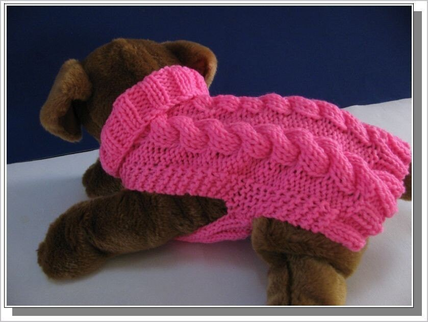 Dog sweater knitting pattern Celtic Doggie Smart Cables Sweater PDF ...