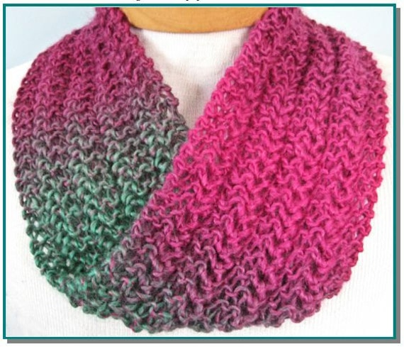 Infinity Scarf Knitting Pattern Knit Lace Easy For Beginner Etsy