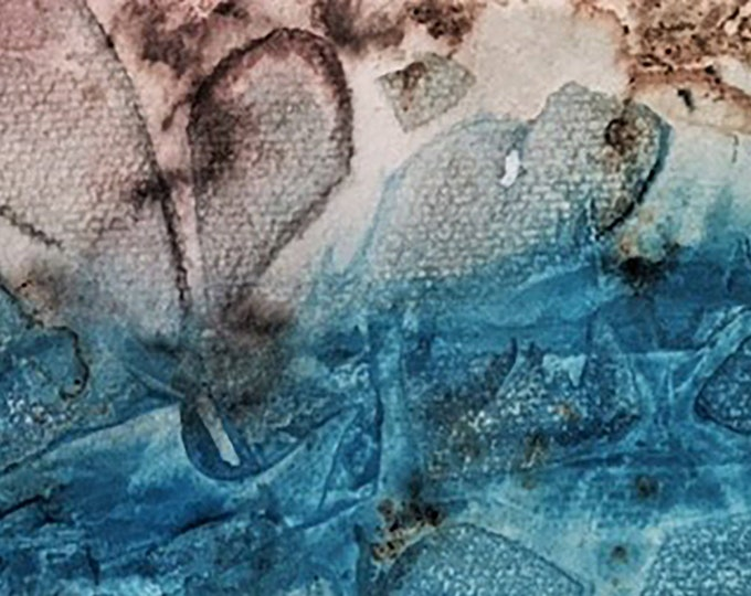 """Fine Art Giclee Print """"Fish Abstract 2"""" print of original work by Christine Wallbom, free shipping"""