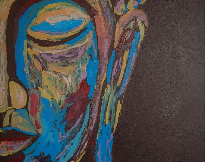 "Fine Art Giclee Print ""Stillness"" print of original work by Christine Wallbom, free shipping"