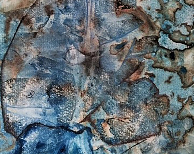 """Fine Art Giclee Print """"Fish Abstract 3"""" print of original work by Christine Wallbom, free shipping"""