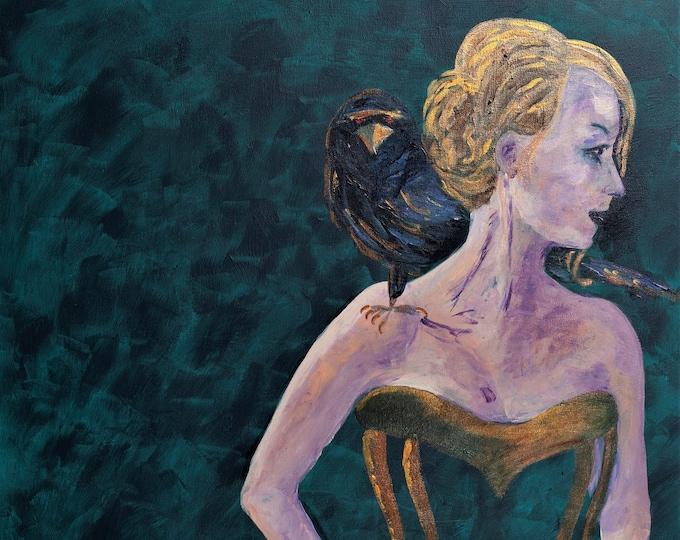 "Fine Art Giclee Print ""The Morgan"" print of original work by Christine Wallbom, free shipping"