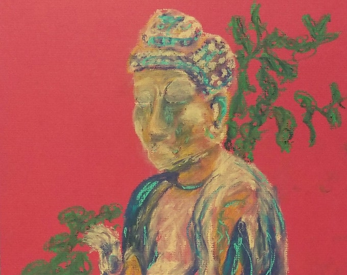 "Print ""meditation"" print of original work by Christine Wallbom, free shipping"