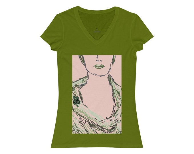 Women's Jersey Short Sleeve V-Neck Tee, St. Patricks day