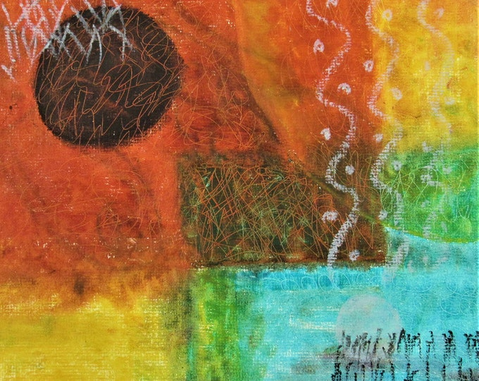"""Fine Art Giclee Print """"Abstract 2"""" print of original work by Christine Wallbom, free shipping"""