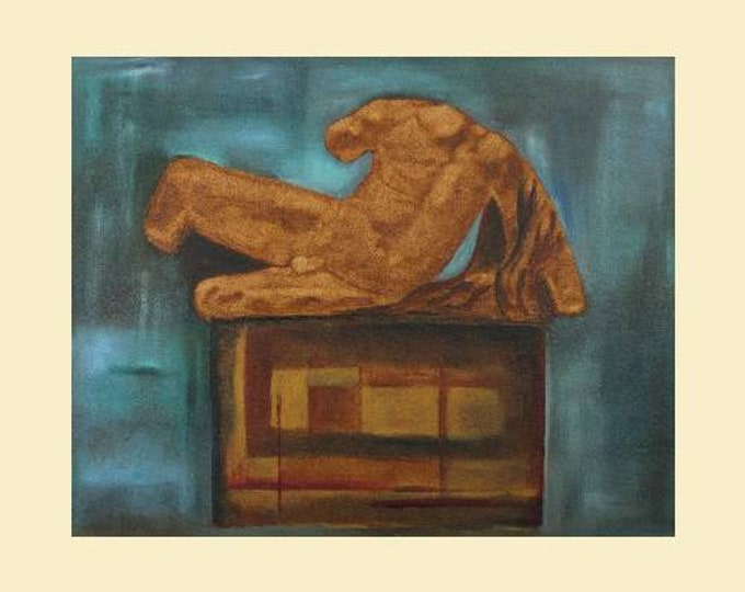 "Fine Art Giclee Print ""Defeated"" print of original work by Christine Wallbom, free shipping"