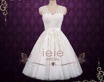 690b798c706 Vintage Short Lace Wedding Dress
