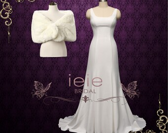 Minimalist Wedding Dress 3b0bbee293a2