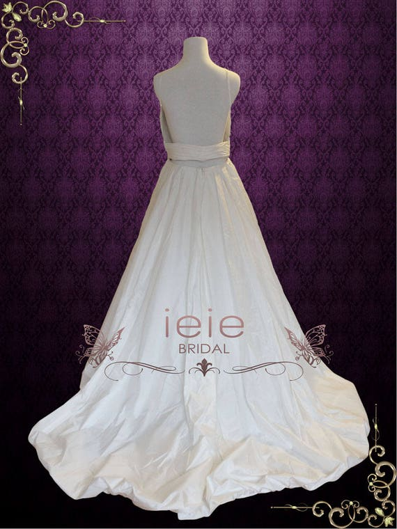 Simple Elegant A Line Low Back Empire Waist Wedding Gown With Etsy