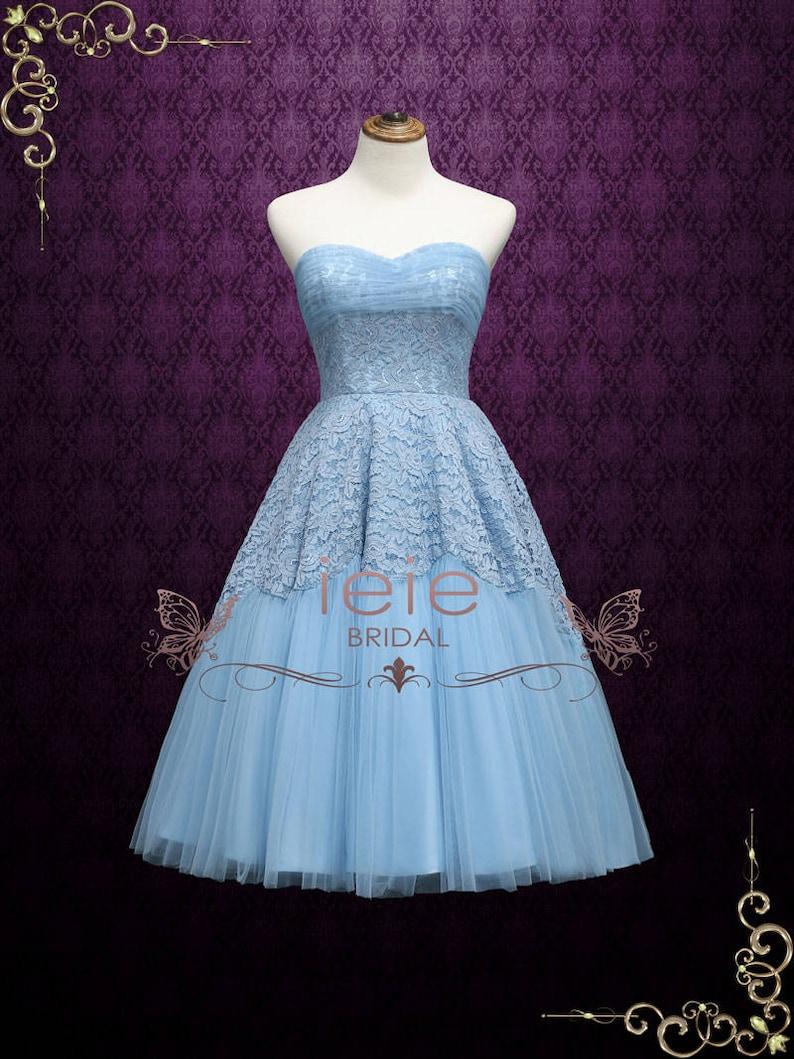 Vintage Style Tea Length Prom Dresses
