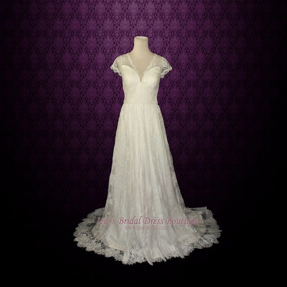 Vintage Wedding Dresses For Sale.Sale Ready To Wear Vintage Lace Wedding Dress With Cap Sleeves Lace Wedding Dress Vintage Wedding Dress Ana Cs131205