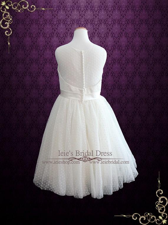 Plus Size Retro Tea Length Wedding Dress With Polka Dot Tulle Etsy