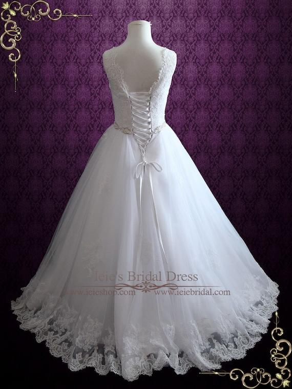 Lace Wedding Dress Princess Wedding Dress Ball Gown Etsy