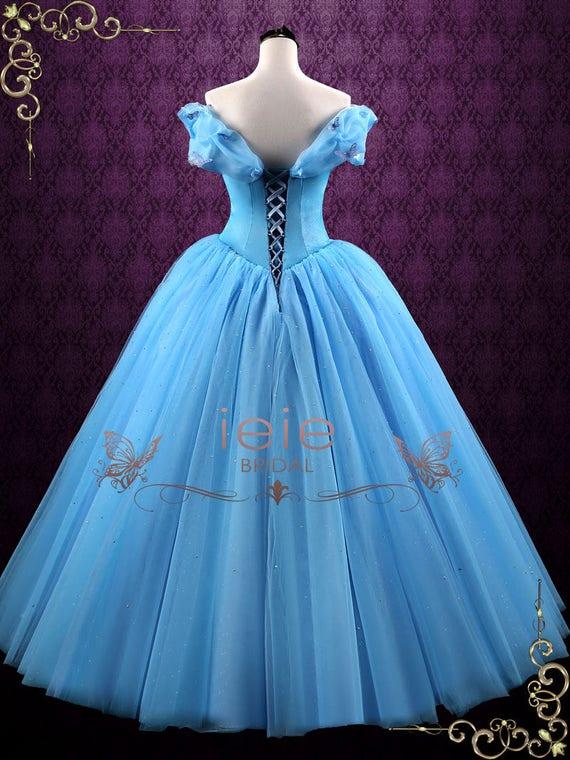 Cinderella Blue Ball Gown Evening Dress Prom Dress Formal Etsy