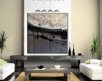Large Mixed Media Abstract Art Contemporary Painting