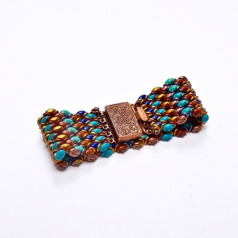 Boho Woven Glass Bracelet Multi Colored Bracelet Southwest image 0