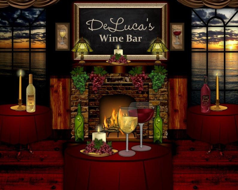 wine bar art personalized print wine lover romantic art image 0