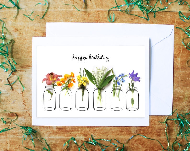 all occasions card floral greeting card flowers notecard image 0